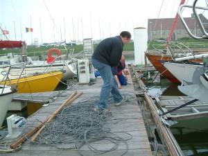 Struikelgevaar in de jachthaven